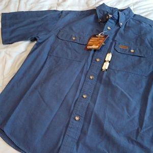 Carhartt Blue Short Sleeve Work Shirt Small